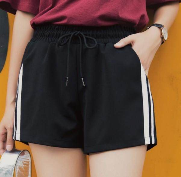 Sports Shorts Female Summer Black High Waist By Thousand Zero One Boutique.