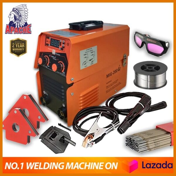 【ULTRA WELDING SET】APACHE ExoWELD®   USA Technology   MIG-200IE Gasless Portable Inverter   Commercial Industrial   Super Heavy Duty   MMA & MIG Arc Welding Machine Set   Imported from USA  