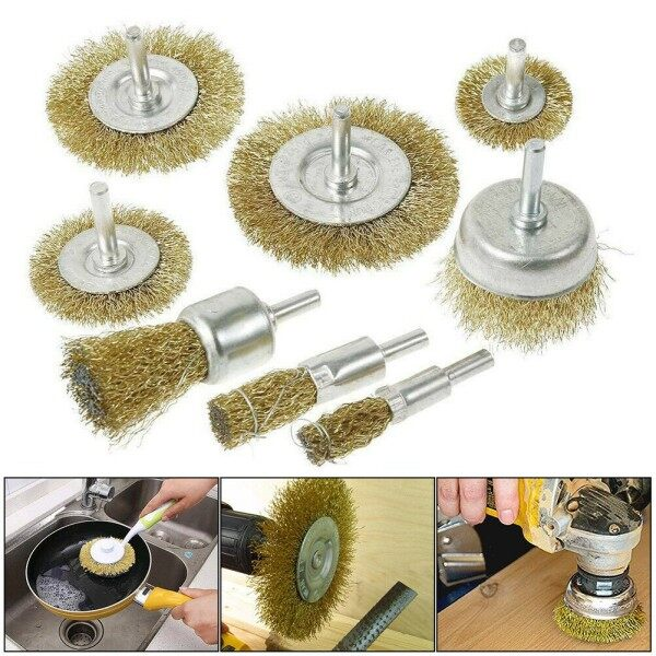 Rust Remove Wire Cup/Wheel Brush Steel Brass Metal Cleaning Wire Wheel Brush