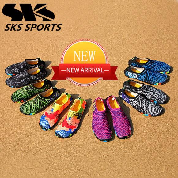 Giày Đi Biển Đa Chức Năng SK W-06 (Giày Nam Giày Nữ) (Áp Dụng Cho Bơi Thể Dục Thể Thao Lái Xe Yoga) Ánh Sáng Thoáng Khí Và Thoải Mái Và Mềm Mại Không Trơn Trượt Và Chống Mài Mòn giá rẻ