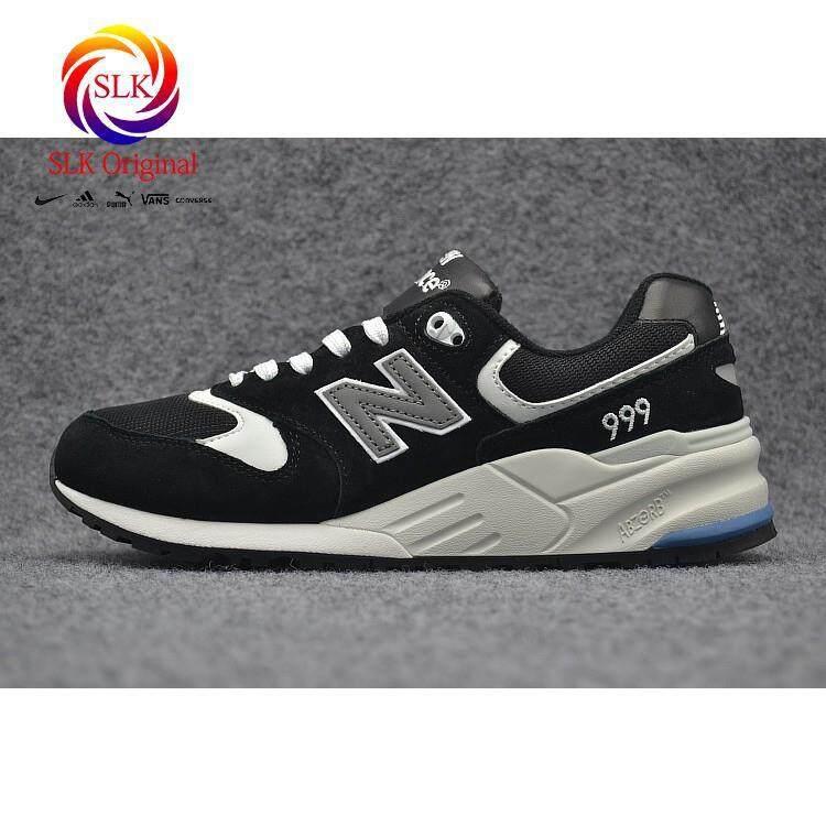 การใช้งาน  เชียงใหม่ SLK เดิม★จัดส่งฟรี New Balance 999 nb999 สีดำสีขาวผู้ชายผู้หญิงกีฬาวิ่ง shoe36-44