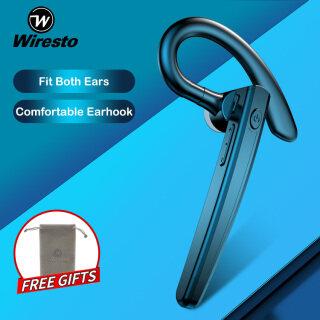 Tai Nghe Bluetooth Không Dây Wiresto V5.0, Tai Nghe Không Dây Chống Ồn, Siêu Nhẹ, Gọi Điện Thoại Rảnh Tay, Chống Nước, Có Túi Đựng Miễn Phí thumbnail