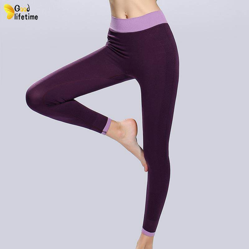 0e660471fa7f6b GLT Women Leggings Solid Color Breathable Quick-dry Slim Fit Yoga Pants for  Fitness