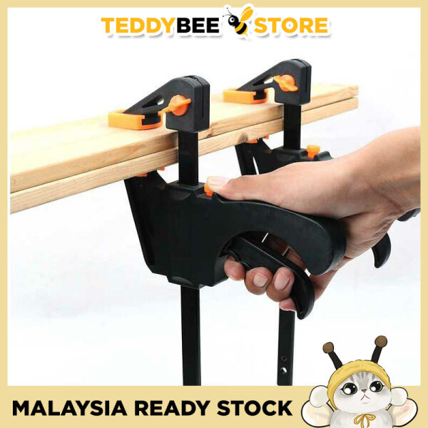 Quick Release F Clamp 6 / 8 / 12 / 18 / 24 / 30 / 36 Inch Quick Grip Clamp for Woodworking DIY Hand Tool Kayu