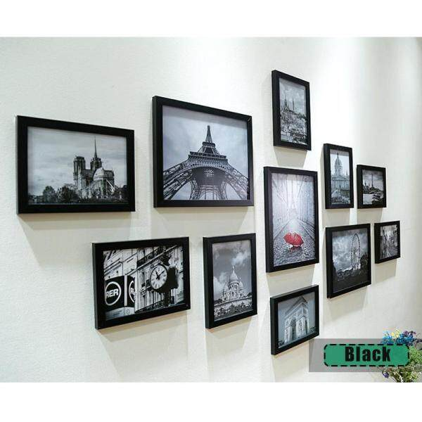 11Pcs Waterproof Home Black White Photo Frame Set Wall Hanging Display Modern Art Decor Picture For Gift