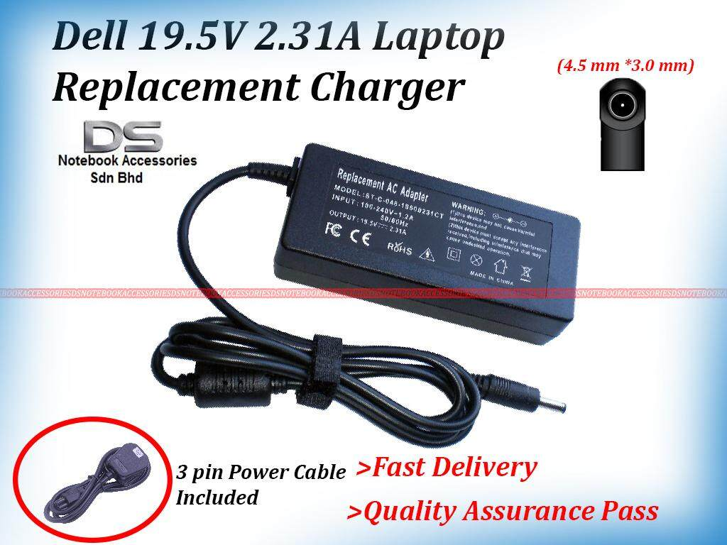 Replacement Laptop Power Adapter Charger For DELL Inspiron 15 7569 / Dell 19.5V 2.31A (45W) (4.5*3.0mm) Adapter