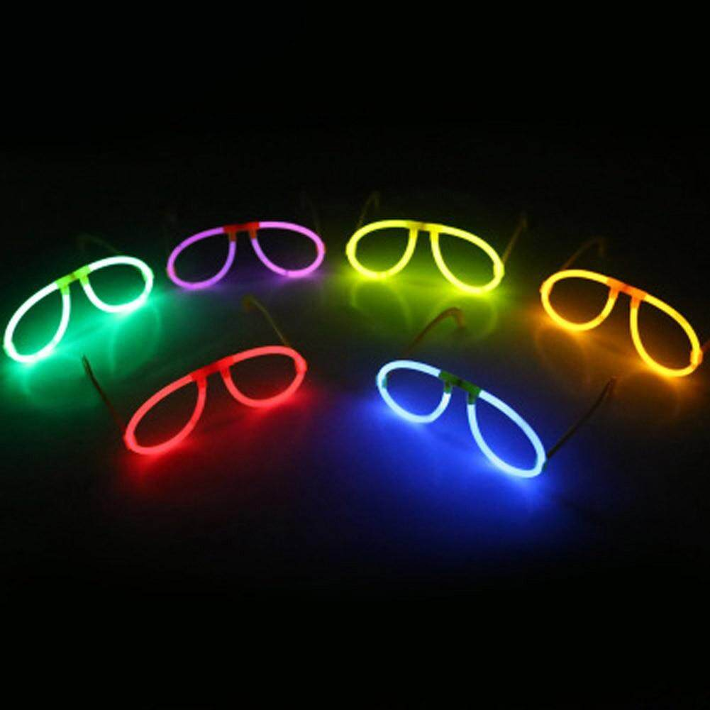 Meiyang 2pcs Multi Color Glow Fluorescence Glasses Skull Glasses Light Luminous Sticks Party Flashing Novelty Toy Random Color By Meiyang.