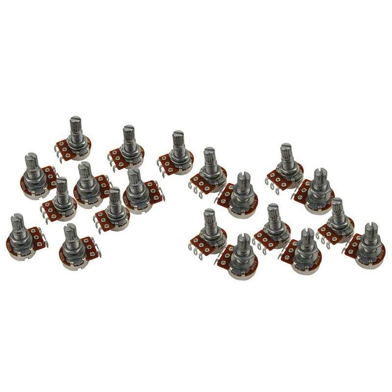 20 Pcs Guitar Small Size Pots Potentiometers for Guitar Bass Parts, 10 Pcs B250K & 10 Pcs A250K