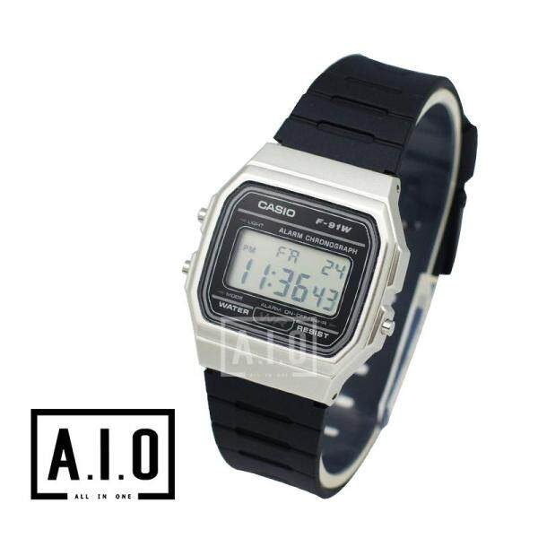Casio Mens Standard Digital Black Resin Band Watch F91WM-7A -F91WM-7A (watch for man / jam tangan lelaki / men watch / watch for men / casio watch for men / casio watch) Malaysia