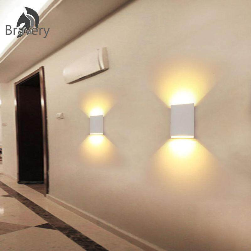 Led Wall Lights Up/Down Outdoor/Indoor Lamp Sconce Waterproof Dimmable 6W