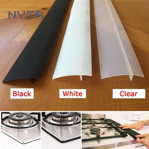 NYTR Gas Stove Slit Strip Antifouling Dustproof Waterproof Kitchen Black Sealing Strip Wall Stickers Sealing Sealant Tape Mildew Resistant