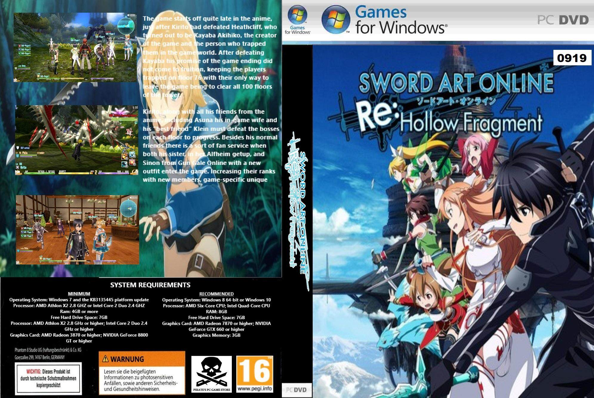 (pc) Sword Art Online Re - Hollow Fragment By Pirates Pc Game Store.