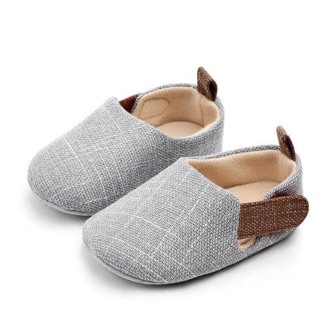 Giày Em Bé I Love Daddy&Mummy Thời Trang Màu Trơn Nonslip Trẻ Sơ Sinh Bé Trai Giày Đế Bằng giá rẻ