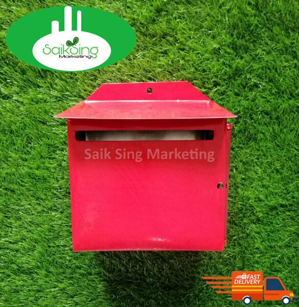 Saik Sing Iron Metal Post Letter Mail Box / Peti Surat Besi Merah