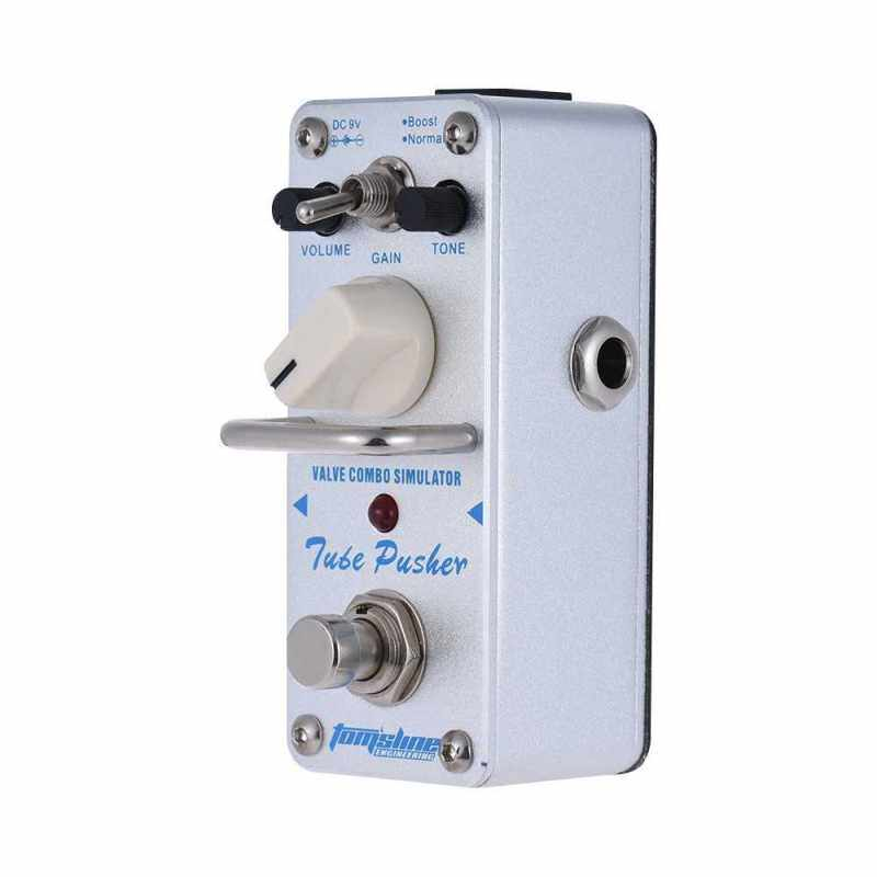 AROMA ATP-3 Tube Pusher Valve Combo Simulator Electric Guitar Effect Pedal Mini Single Effect with True Bypass (White) Malaysia