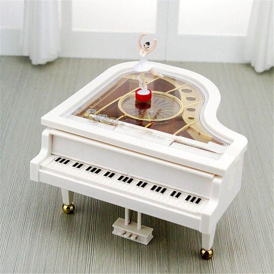 Hot Bán Hàng Cơ Học Cổ Điển Balo Cô Gái Nhảy Múa trên Hộp Nhạc Piano Bé Gái Quà Tặng