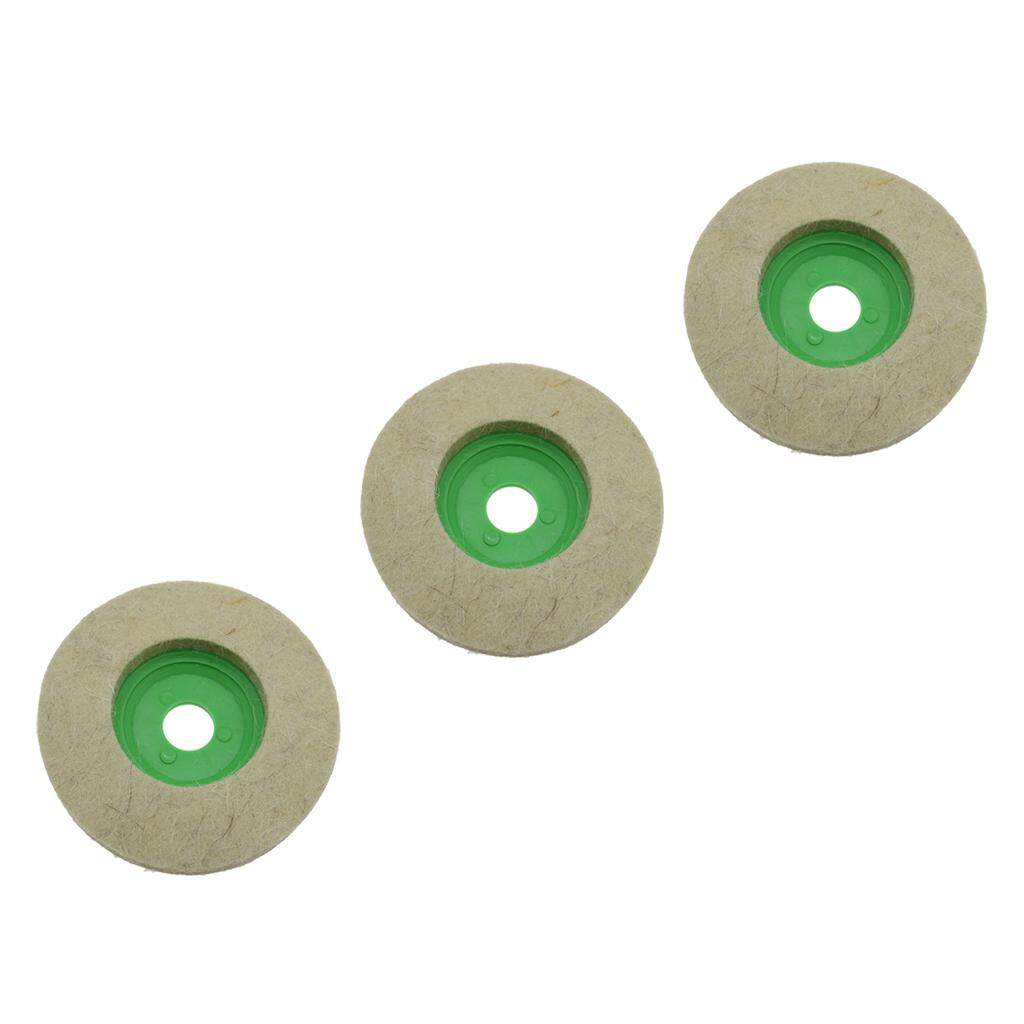 Blesiya 3pcs 4 100mm Wool Buffing Polisher Polishing Wheel Felt Buffer Disc Tool
