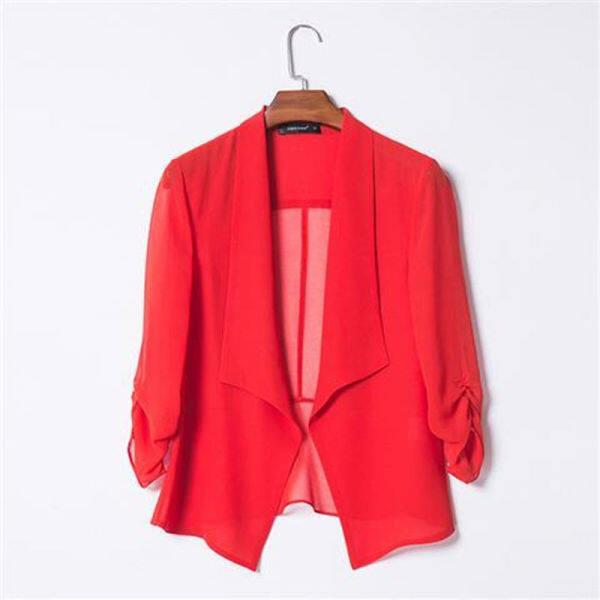 ผ้าคลุมไหล่ ผ้าชีฟอง❁❂☽Áo Cardigan Vải Voan Rộng 2020 Mới, Bộ Điều Hòa Không Khí Mỏng Joker Áo Khoác Nhỏ Đoạn Ngắn Ms Khăn Choàng
