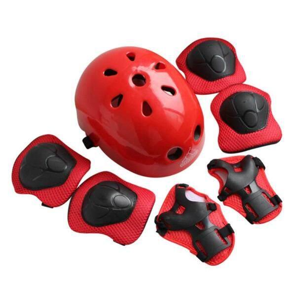 7 cái trẻ em trượt băng bảo vệ Mũ bảo hiểm thiết lập đầu gối khuỷu tay Pads Helmet Protector cho trẻ em Skateboard đi xe đạp thiết bị