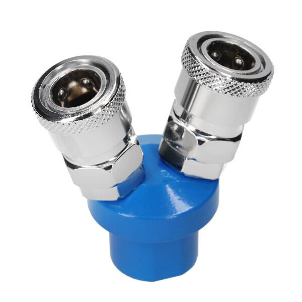 KKmoon Manifold Block Splitter 2 Way Quick Connect Air Hose Splitter Coupler Manifold Air Compressor C Type Quick Coupler