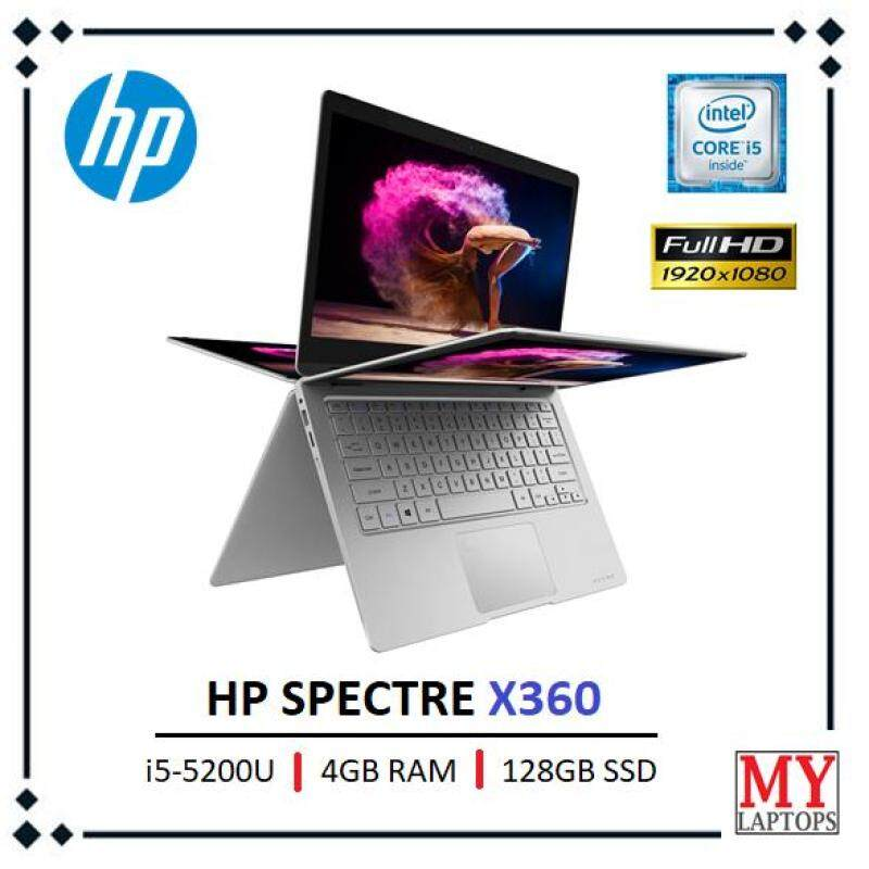 HP SPECTRE X360 CONVERTIBLE 2 IN 1 LAPTOP / i5-5500U / 4GB RAM / 128GB SSD / FULL HD [TOUCHSCREEN] / WINDOWS 10 Malaysia