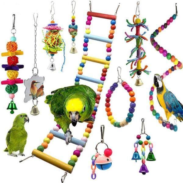 10 Con Vẹt Đồ Chơi, Đồ Chơi Cho Chim Và Cá Rô Đu Vật Nuôi Phụ Kiện, Bậc Thang Cockatiel Đứng Parkiet Vợt Cầu Lông Speelgoed Jouet