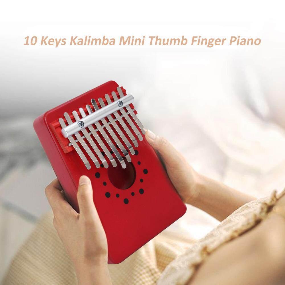 10 phím Gỗ Kalimba Ngón Tay Ngón Tay Cái Đàn Piano Ngón Tay Bộ Gõ Bàn Phím Nhạc Cụ