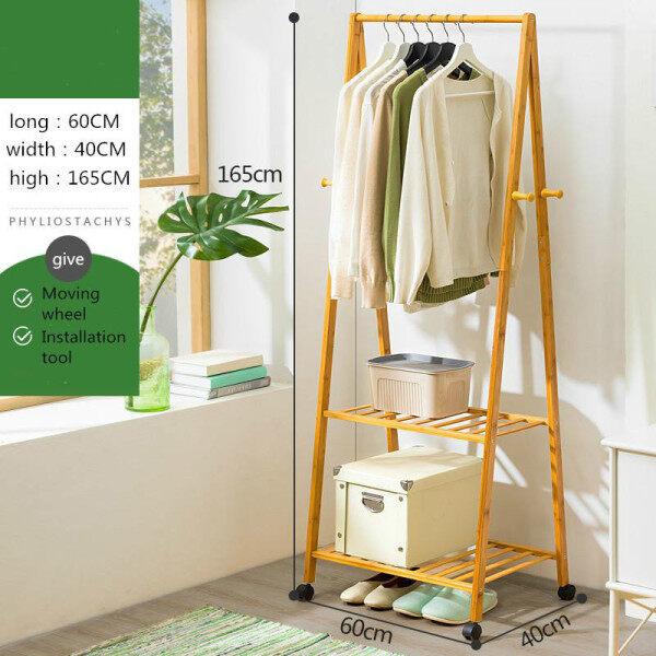 Solid Wood Coat Rack Floor Bedroom Hanger Home Living Room Clothes Storage Rack