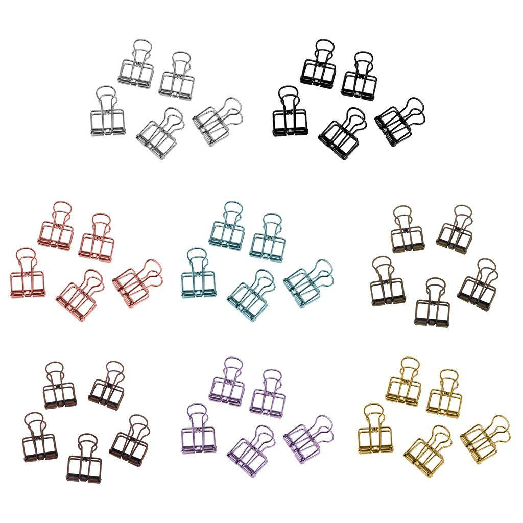 Miracle Shining 40 Pieces Hollow Long Tail Clips Folder Dovetail Wire Binder Clips