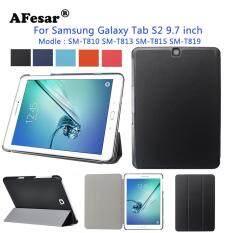Slim Bao Da Smart Case cho Samsung Galaxy Tab S2 9.7 SM-T810 SM-T815 SM-T813 SM-T819 Máy Tính Bảng Da PU Đế Ốp Lưng tự động Tắt mở lên