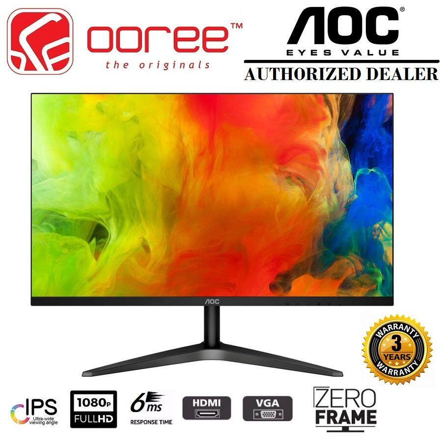 AOC 27 27B1H LED FLAT HD READY (RESOLUTION: 1920x1080 @60Hz) IPS LCD MONITOR (7MS RESPONSE TIME, VGA + HDMI INPUT,  NO SPEAKER & VESA WALL MOUNT) 3YEARS ON-SITE WARRANTY, BLACK COLOUR Malaysia