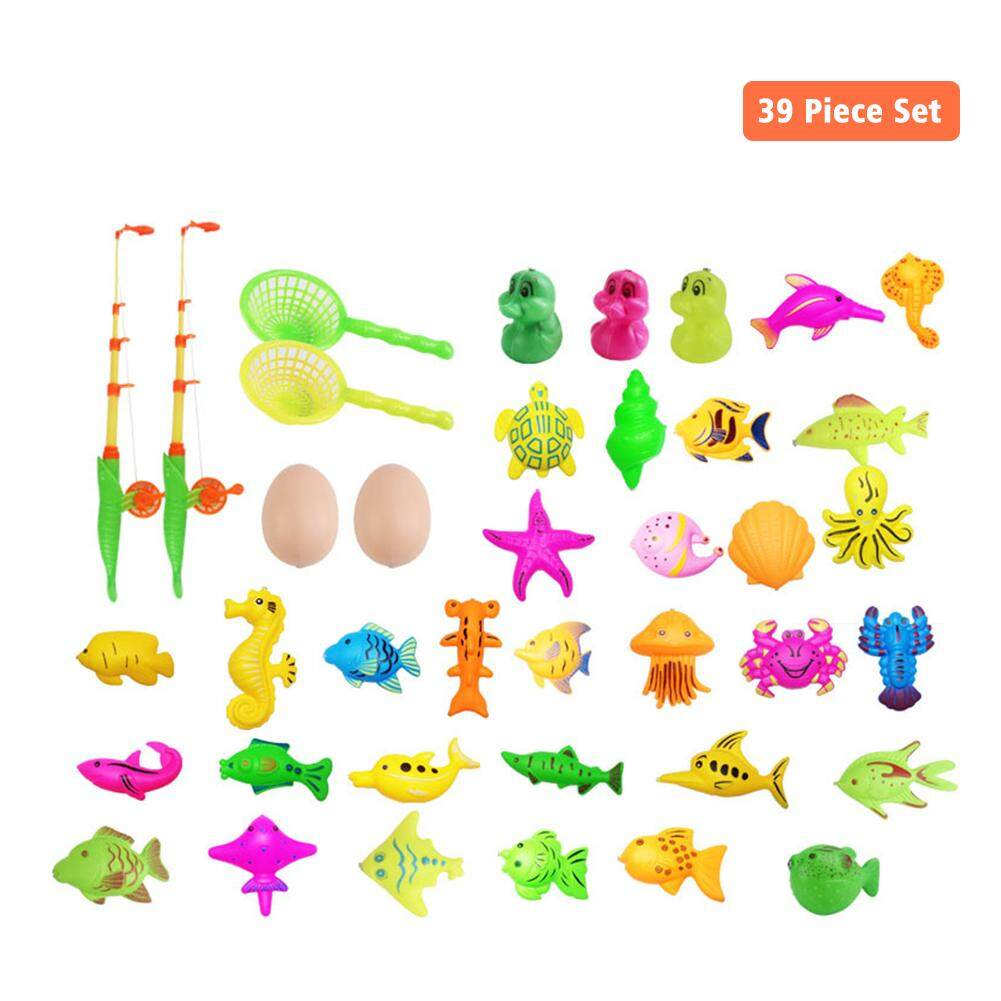Magnetic Fishing Game Rod Fish Hook Kid's Inflatable Pool Outdoor Toy