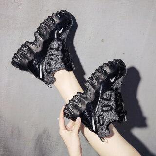 Giày thể thao đế xuồng gót giày giúp nâng chiều cao 10cm 3.9 inch giày nữ đa năng mẫu thiết kế mùa xuân - INTL thumbnail
