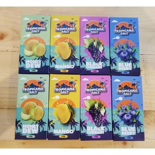 ( S@lt ) Tropicana S@lt / Tropicana ice series  Blueberry / Mango / Blackcurrant Ice / Honeydew Ice Pod Ejuice 15ml Vape Juice For Pod Ready Stock Malaysia