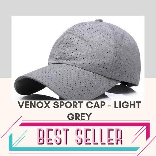 868abf390 [LOCAL SELLER] Venox Outdoor Athletic Cap Lightweight Sports Athletic Cap  for Men & Women, One Size Fits All Even with a Ponytail, All Season ...