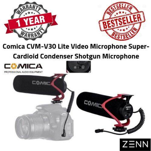 Comica Cvm-V30 Lite Video Microphone Super-Cardioid Condenser Shotgun Microphone For Camera/dslr/smartphone With 3.5mm Cable By Litetec Digital.