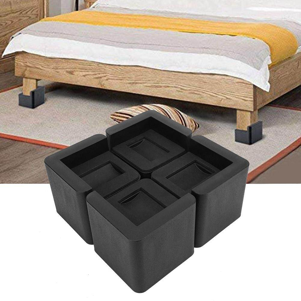 Multifunction Durable Bed Risers Black Square Furniture Risers for Couch Sofa Bed Chair Table