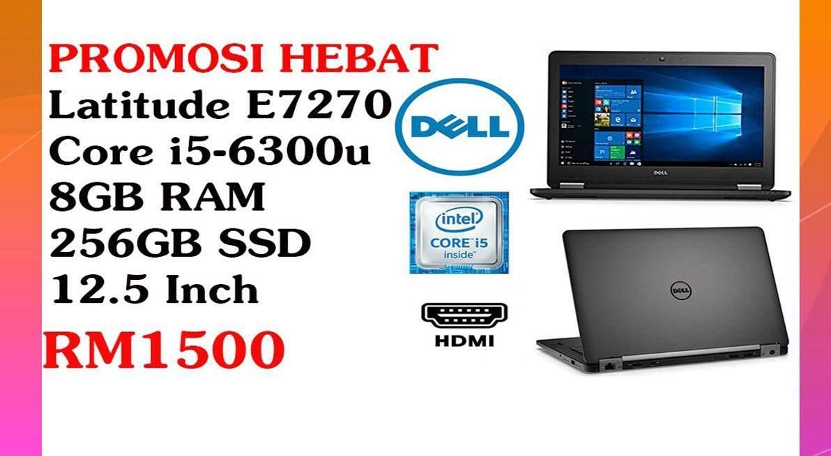 PROMOSI HEBATBusiness Laptop DELL Latitude E7270 INTEL CORE i5-6300U (2.40GHZ) 8GB RAM 256GB SSD 12.5 INCH Malaysia