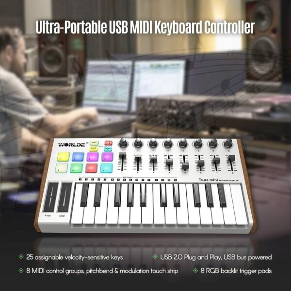 WORLDE TUNA 25-Key USB MIDI Keyboard Controller Malaysia