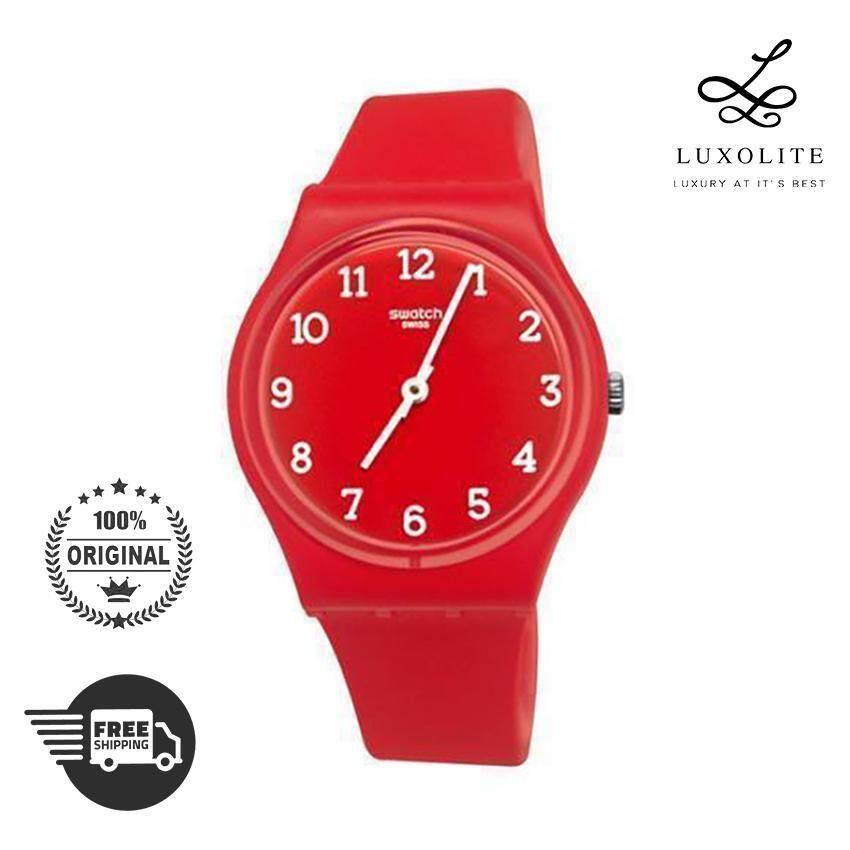 Swatch Quartz GR175 Red Silicone Unisex Men Women Fashion Ladies Watch 02c4c16d4f