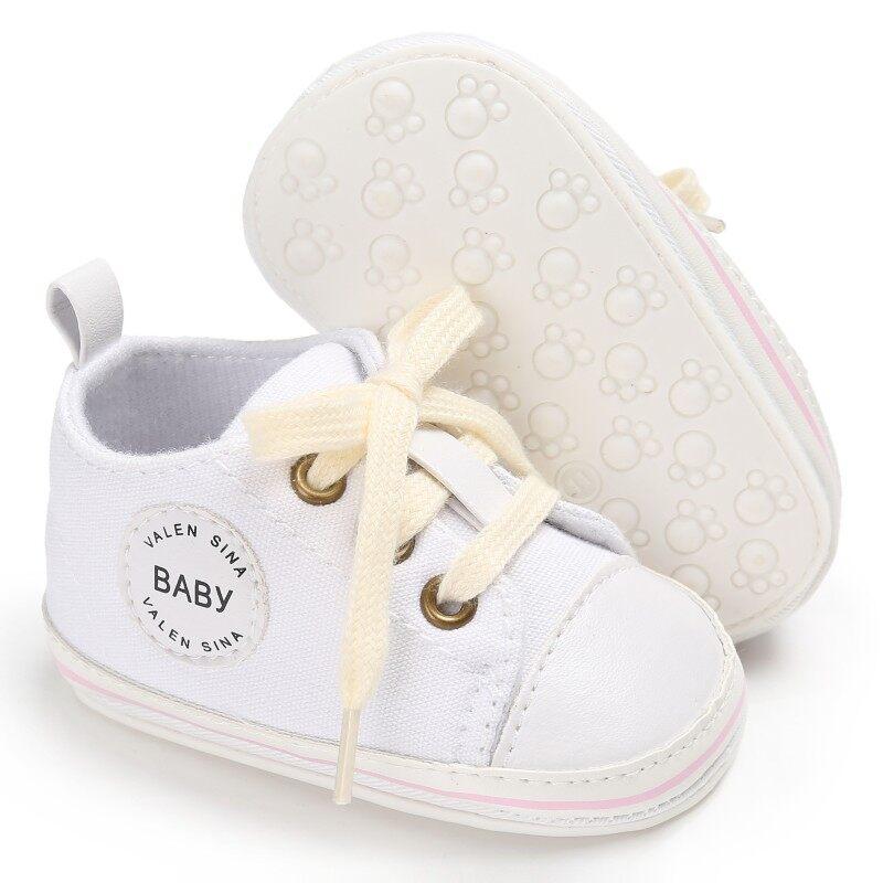 Giá bán Giày Cho Bé Sơ Sinh Đầu Tiên Xe Tập Đi Tollder Giày Vải Cột Dây Cho Bé Gái Giày Sneaker Prewalker 0-18M Mới