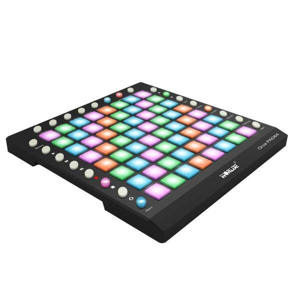WORLDE ORCA PAD64 Portable MIDI Controller 64 Drum Pads with USB Cable 64XHigh quality Velocity Controllers Keyboard Instrument - Black (black) Malaysia