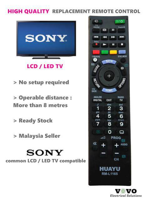 SONY LCD / LED TV Replacement Remote Control