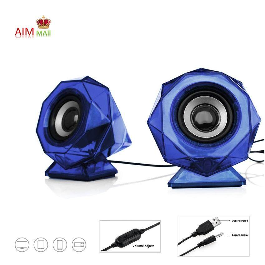 2.0 Stereo with Bass Diaphragm USB Speaker Malaysia