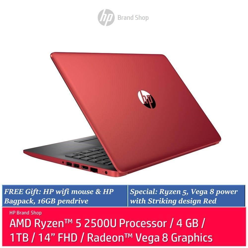 Hp 14 Cm0108au Laptop Ryzen 5 4gb 1tb Radeon Vega 8 Red Malaysia