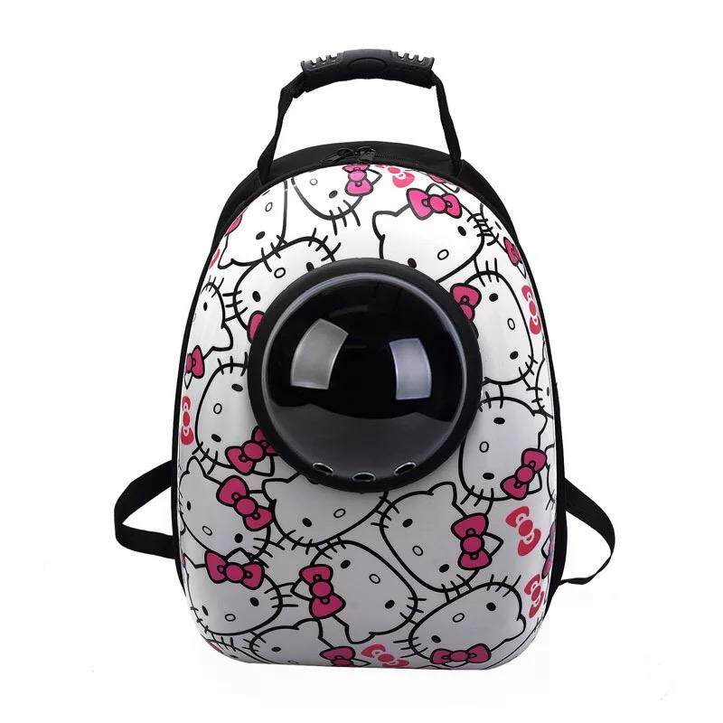 Astronaut Capsule Transparent Breathable Pet Carrier Soft Capsule Style Pet Bag Travel Backpack For Cats And Dogs 32cm (l) X 25cm (w) X 42cm (h) By Toys Circle Online Pet Shop.