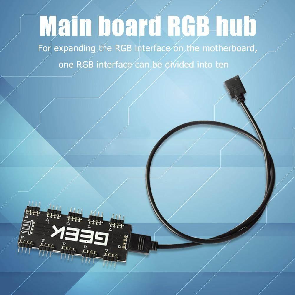 Giá 10 RGB Đồng Bộ Chia Hub Nối Dài Cho Bo Mạch Chủ RGB Quạt (12V 4Pin)