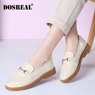 Giày Đế Bằng Cho Nữ, Giày Lười Oxford Màu Đen Phong Cách Hàn Quốc Chính Hãng thumbnail
