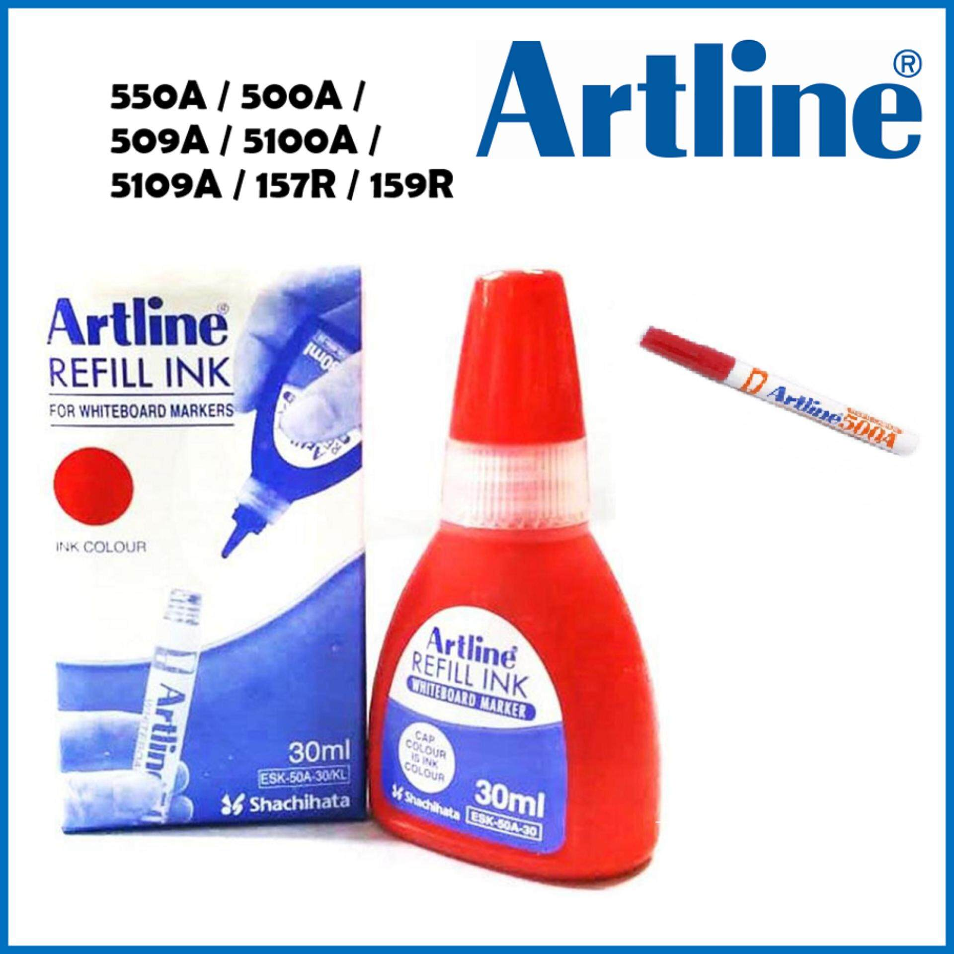 Artline Refill Ink 30ml For Whiteboard Marker Pen ( Red ) - Esk.50-A.30/kl By Titan Pallas Stationeries.