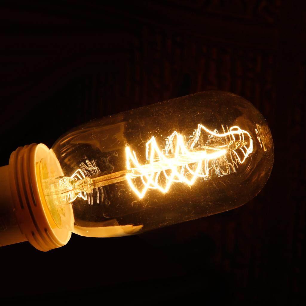 Perfk Edison Vintage Metal Cage Ceiling Pendant Light Lamp Lampshade +Bulb T45